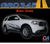 2010-2018 Dodge Durango Burst Body Stripe Vinyl Striping Graphic Kit (M-GRD345)