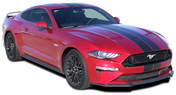 "STAGE RALLY SLIM : 2018 2019 Ford Mustang Racing Stripes 7"" Wide Rally Decals Vinyl Graphics Kit (M-PDS-5376)"