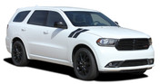 DURANGO DOUBLE BAR : 2011-2019 Dodge Durango Hood Hash Marks Stripes Decals Vinyl Graphics Kit (M-PDS-5543)