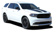 PROPEL HOOD : 2011 2012 2013 2014 2015 2016 2017 2018 2019 2020 Dodge Durango Split Hood Stripes Decals Vinyl Graphics Kit (M-PDS-5521)