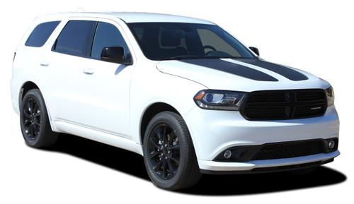 PROPEL HOOD : 2011 2012 2013 2014 2015 2016 2017 2018 2019 2020 Dodge Durango Split Hood Stripes Decals Vinyl Graphics Kit (M-PDS-5521)