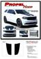 PROPEL HOOD : 2011 2012 2013 2014 2015 2016 2017 2018 2019 Dodge Durango Split Hood Stripes Decals Vinyl Graphics Kit - Details