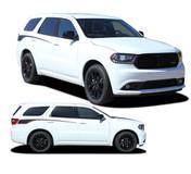PROPEL SIDES : 2011 2012 2013 2014 2015 2016 2017 2018 2019 2020 2021 Dodge Durango Rear Quarter Accent Stripes Decals Vinyl Graphics Kit (M-PDS-5522)