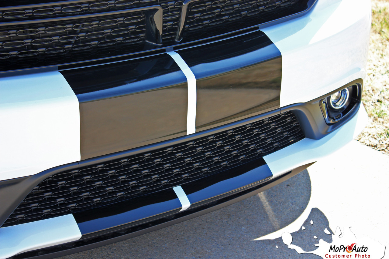 DURANGO RALLY STRIPES | 2014 2015 2016 2017 2018 2019 2020 2021 Dodge Durango Racing Blackout Vinyl Graphics Kit MoProAuto Pro Design Series