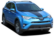 RAVAGE HOOD : 2016 2017 2018 2019 Toyota RAV4 Hood Blackout Vinyl Graphic Stripes Decal Kit (M-PDS-5787)