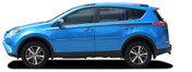 RAVAGE SIDES : 2016 2017 2018 2019 Toyota RAV4 Side Door Accent Vinyl Graphic Stripes Decal Kit (M-PDS-5789)