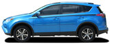 RAVAGE SIDES : 2016 2017 2018 2019 Toyota RAV4 Side Door Accent Vinyl Graphic Stripes Decal Kit (M-PDS-5789)