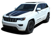 TRAIL HOOD : Jeep Grand Cherokee Trailhawk Hood Decal Stripe Vinyl Graphic Kit for 2011, 2012, 2013, 2014, 2015, 2016, 2017, 2018, 2019, 2020, 2021 Models (M-PDS-5830)