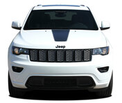 PATHWAY HOOD : Jeep Grand Cherokee Center Hood Decal Stripe Vinyl Graphic Kit for 2011-2019 Models (M-PDS-5842)