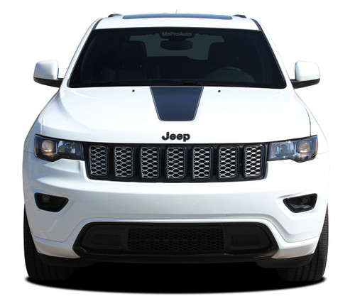 PATHWAY HOOD : Jeep Grand Cherokee Center Hood Decal Stripe Vinyl Graphic Kit for 2011, 2012, 2013, 2014, 2015, 2016, 2017, 2018, 2019, 2020 Models (M-PDS-5842)