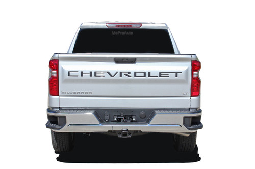 SILVERADO TAILGATE LETTERS : Chevy Silverado Tailgate Decals Name Vinyl Graphics Kit fits 2019 2020 (M-PDS-5896)
