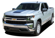 SILVERADO TRAIL BOSS HOOD : Chevy Silverado Hood Decal Vinyl Graphic Stripe Kit fits 2019 2020 2021 (M-PDS-5895)