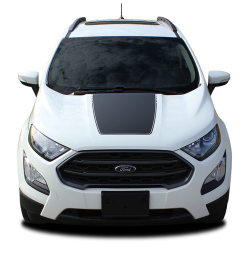 AMP HOOD : Ford EcoSport Hood Decal Stripe Vinyl Graphic Kit for 2013-2020 (M-PDS-5949)