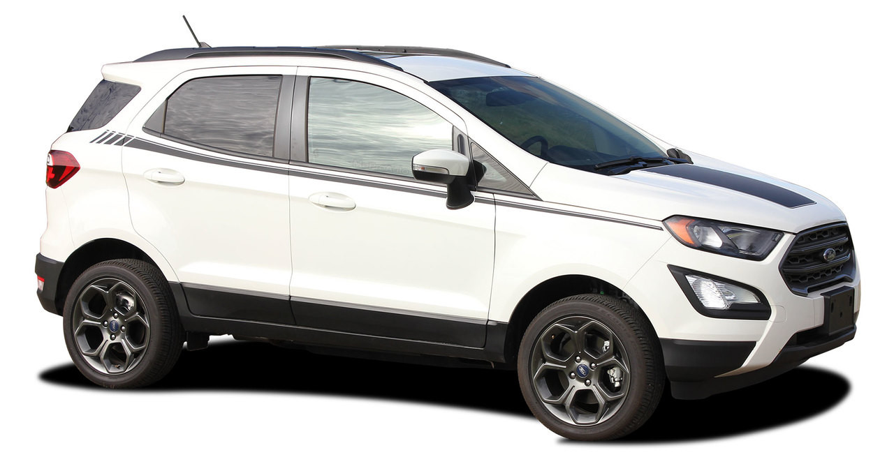AMP SIDES : Ford EcoSport Side Decal Door Stripe Vinyl Graphic Kit for  2013-2019