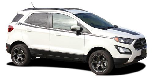 AMP SIDES : Ford EcoSport Side Decal Door Stripe Vinyl Graphic Kit for 2013-2019 (M-PDS-5948)