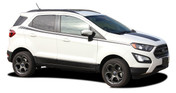 AMP SIDES : Ford EcoSport Side Decal Door Stripe Vinyl Graphic Kit for 2013-2019 (M-PDS-5948)