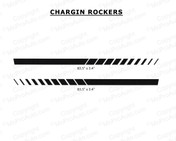 Dodge Charger ROCKERS Lower Door Panel Decal Vinyl Graphics Stripe Kit fits 2006-2010