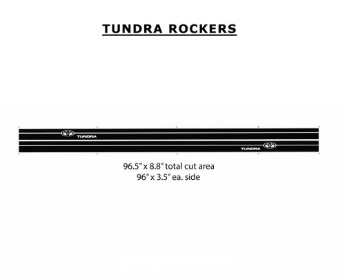 TUNDRA ROCKERS : Toyota Tundra Lower Body Decals Stripes and Vinyl Graphics Kit