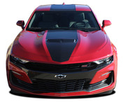 2019 2020 Camaro Stripes OVERDRIVE 19 : Chevy Camaro Hood Decals Center Racing Stripes Rally Vinyl Graphics Kit (M-PDS-5993)