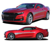 2019 2020 Camaro Door Decal BACKLASH : Chevy Camaro Side Body Stripes Decals Vinyl Graphics Kit (M-PDS-6001)