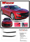 2019 2020 Camaro Hood Decals WIDOW : Chevy Camaro Spider Stripes Hood Spear Decals Vinyl Graphics Kit (M-PDS-5989) - Details