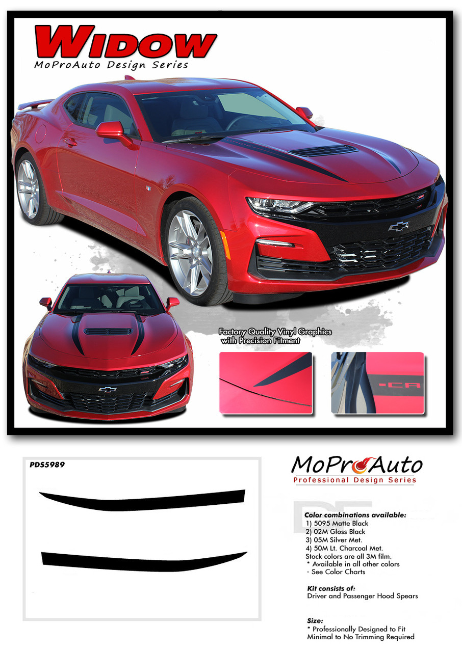 2019 2020 Chevy Camaro Hood Body Decals, Camaro Door Stripes SS RS V6 Vinyl Graphics Kit