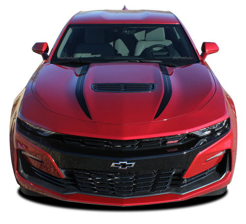 2019 2020 Camaro Hood Decals WIDOW : Chevy Camaro Spider Stripes Hood Spear Decals Vinyl Graphics Kit (M-PDS-5989)