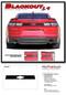 2019 2020 Camaro Rear Decklid BLACKOUT Decal : Chevy Camaro Trunk Blackout Stripe Vinyl Graphics Kit (M-PDS-5988) - Details