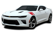 2019 2020 2021 Camaro Hood Decal HASHMARK : Chevy Camaro Stripes OEM Factory Lemans Hood to Fender Hash Vinyl Graphics Kit (M-PDS-3962-19)