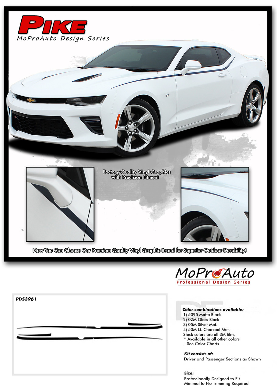 2019 2020 Camaro Body Side Spear Decal Pike Chevy Camaro Stripes