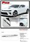 2019 2020 Camaro Body Side Spear Decal PIKE : Chevy Camaro Stripes Upper Door to Fender Accent Vinyl Graphics Kit  - Details