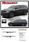 RUNAWAY : 2011-2019 Dodge Durango Side Door Stripes Decals Vinyl Graphics Kit (M-PDS-6075) - DETAILS