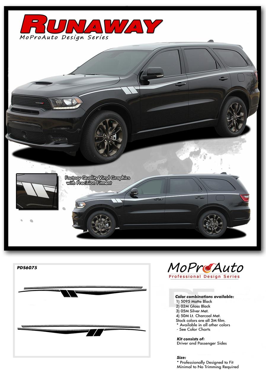 DODGE DURANGO RUNAWAY Rear Quarter Panel Accent - MoProAuto Pro Design Series Vinyl Graphics and Decals Kit