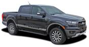 RAPID : Ford Ranger Lower Rocker Panel Stripes Vinyl Graphics Decals Kit 2019 2020 2021 (M-PDS-6122)