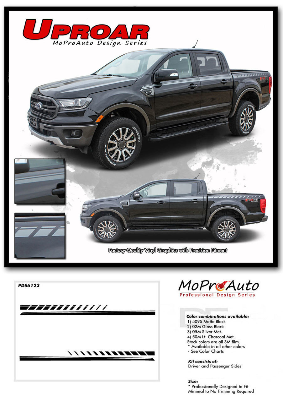 2019 2020 Ford  Ranger UPROAR Vinyl Graphics and Decals Kit - MoProAuto Pro Design Series