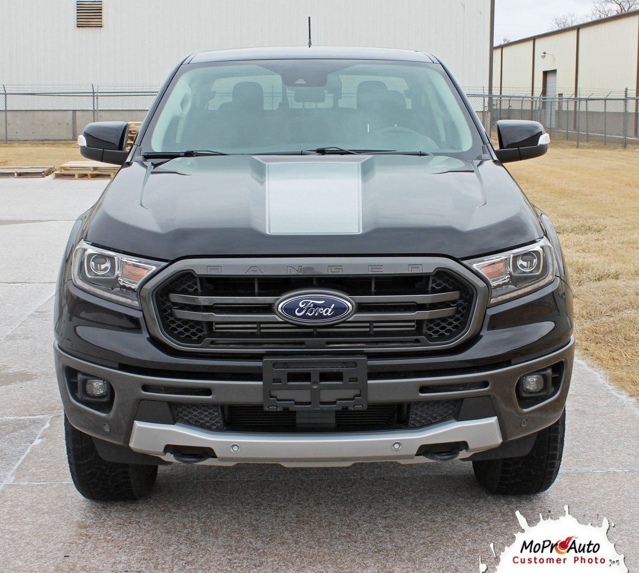 2019 2020 Ford  Ranger VIM HOOD Vinyl Graphics and Decals Kit - MoProAuto Pro Design Series
