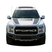 VELOCITOR HOOD : Ford Raptor Split Hood Stripes Vinyl Graphics Decals Kit 2018 2019 2020 (M-PDS-5719)