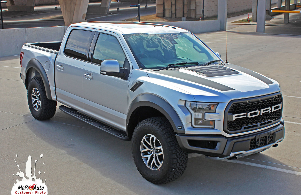 2018 2019 2020 Ford  Raptor VELOCITOR HOOD Vinyl Graphics and Decals Kit - MoProAuto Pro Design Series