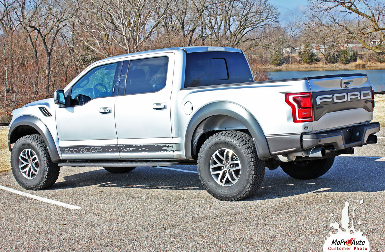 2018 2019 2020 Ford  Raptor VELOCITOR ROCKER Vinyl Graphics and Decals Kit - MoProAuto Pro Design Series