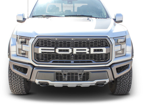 VELOCITOR GRILL : Ford Raptor Front Grill Text Decals Letter Stripes Vinyl Graphics Kit 2018 2019 2020 (M-PDS-6175)