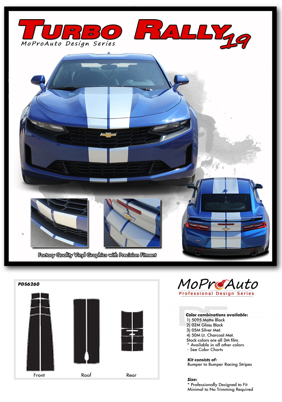 2019 Camaro Racing Stripes Turbo Rally 19 Chevy Camaro