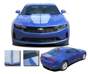 2019 Camaro Racing Stripes REV SPORT : Chevy Camaro Hood Decals Rally Vinyl Graphics Kit (M-PDS-6227)