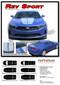 2020 2019 Camaro Racing Stripes REV SPORT : Chevy Camaro Hood Decals Rally Vinyl Graphics Kit - Details