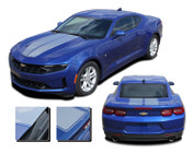 2019 Camaro Racing Stripes REV SPORT PIN : Chevy Camaro Hood Decals with Pin Stripe Outline Vinyl Graphics Kit (M-PDS-6223)