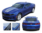 2019, 2020 Camaro Racing Stripes REV SPORT PIN : Chevy Camaro Hood Decals with Pin Stripe Outline Vinyl Graphics Kit (M-PDS-6223)