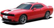 Dodge Challenger Hellcat SRT Racing Stripes AIRSHOT RALLY : Vinyl Graphics Bumper to Bumper Decals fits 2015, 2016, 2017, 2018, 2019, 2020 (M-PDS-6316)