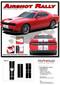 Dodge Challenger Hellcat SRT Racing Stripes AIRSHOT RALLY : Vinyl Graphics Bumper to Bumper Decals fits 2015 2016 2017 2018 2019 - DETAILS