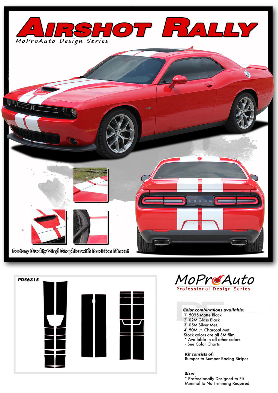 2015, 2016, 2017, 2018, 2019, 2020 Dodge Challenger HELLCAT SRT RALLY Vinyl Graphics, Stripes and Decals Set