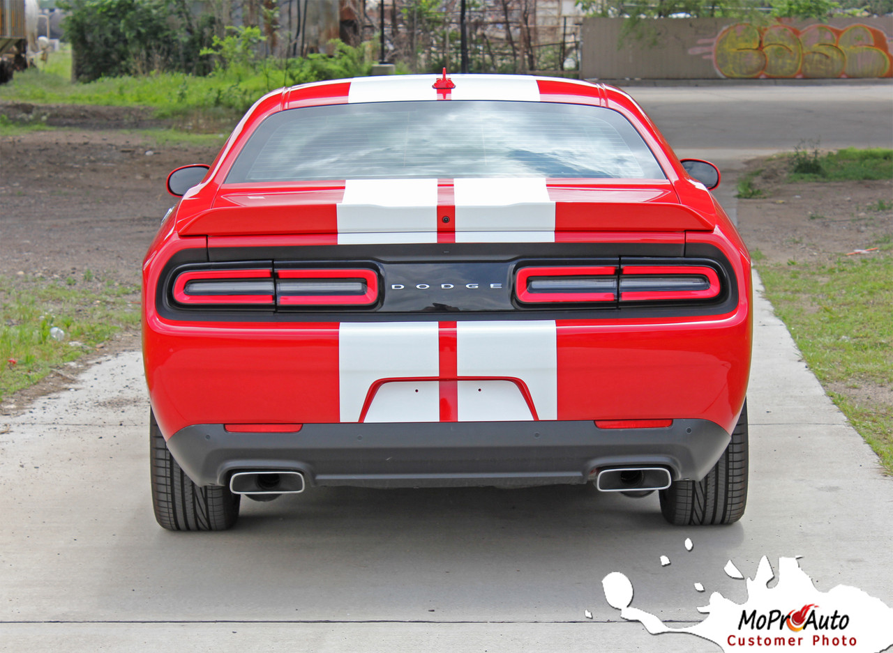 2015, 2016, 2017, 2018, 2019, 2020 Dodge Challenger SRT HELLCAT RALLY Vinyl Graphics, SRT HELLCAT Stripes and Decals Kit