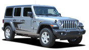 ADVANCE : Jeep Wrangler JL Side Door Vinyl Graphics Body Decal Stripe Kit for 2007-2017 2018 2019 2020 2021 Models (M-PDS-6425)